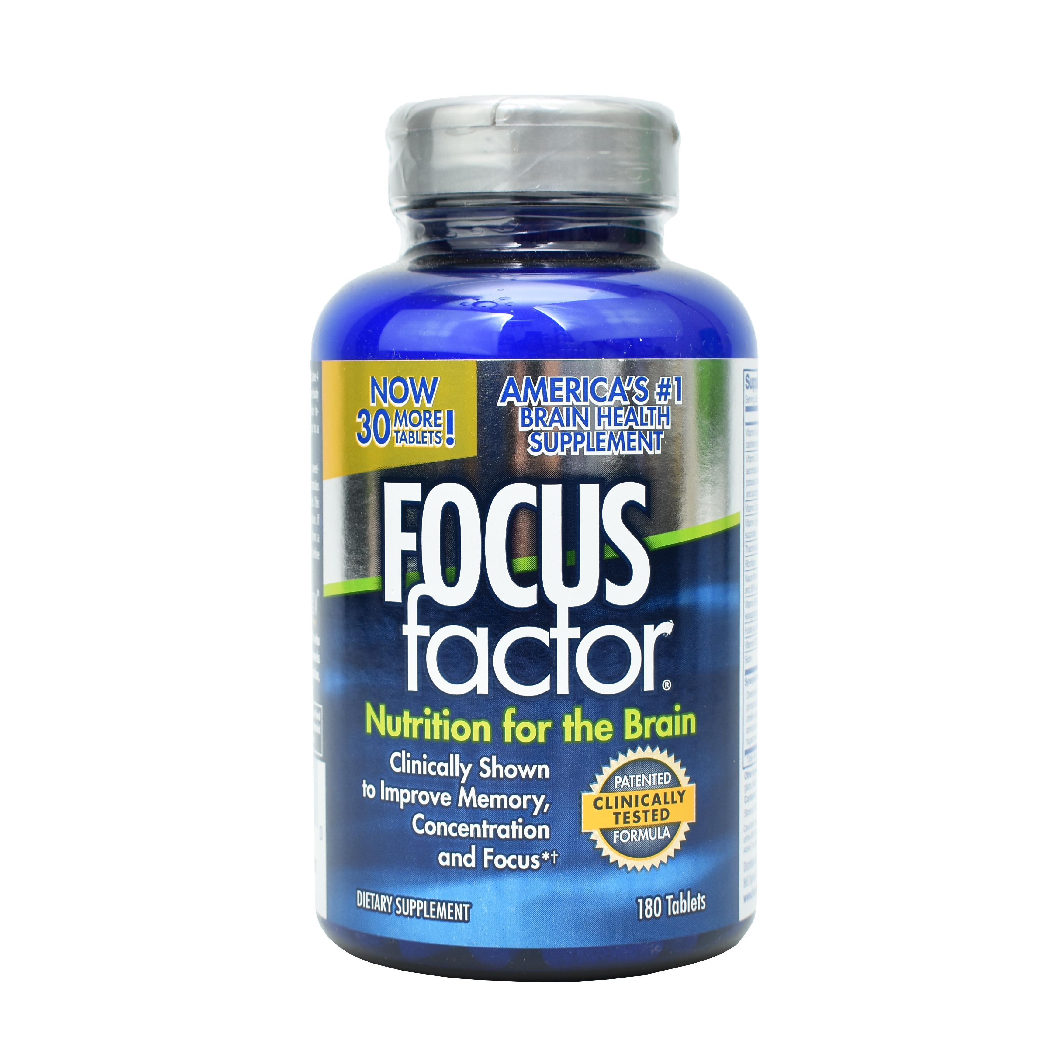 Viên Uống Focus Factor Nutrition For The Brain Của Mỹ, 180 viên