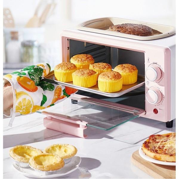 Bếp Nướng Đa Năng Mini SALAY dung tích 12l, rã đông, nướng bánh Công Suất Lớn 800W