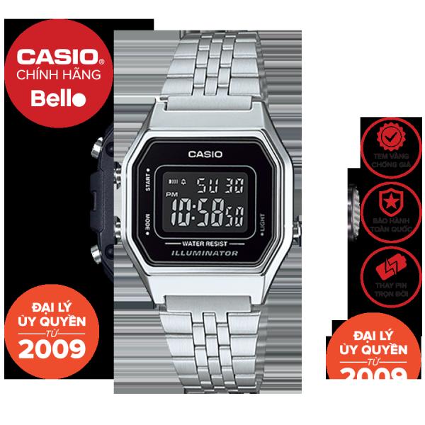 Đồng hồ Casio Nữ LA680WA-1B bảo hành chính hãng 1 năm - Pin trọn đời