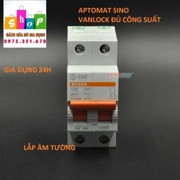Cầu dao tự động ngắt 2 cực - Aptomat 2 cực Sino - Vanlock