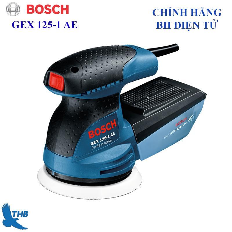 Máy chà rung chà nhám lệch tâm Bosch chính hãng đường kính đĩa chà 125mm công suất 125W GEX 125-1 AE