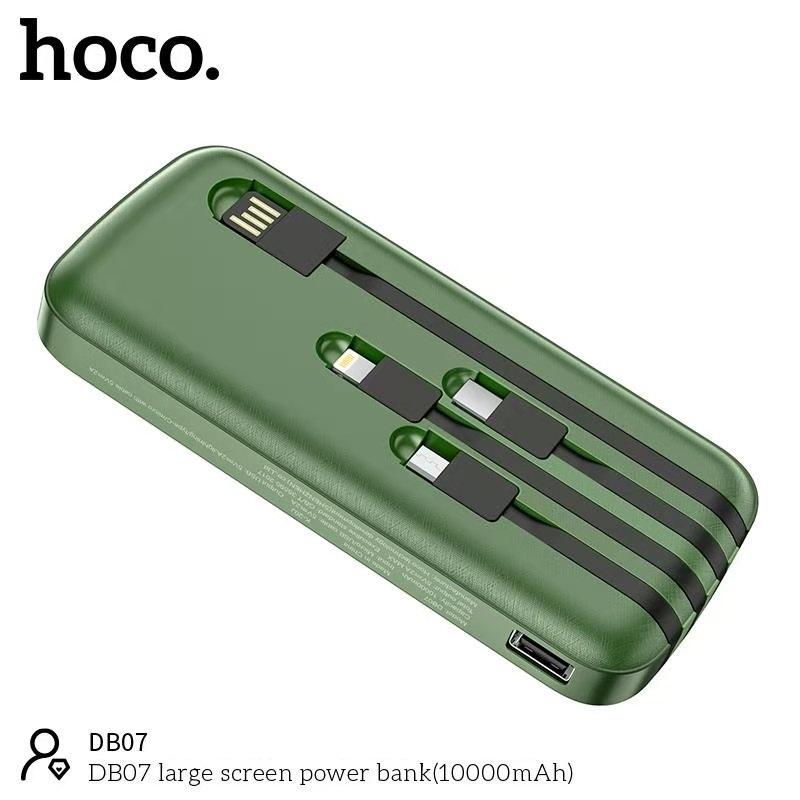 Pin sạc dự phòng Hoco DB07 dung lượng khủng 10000mAh, 3 đầu ra cân bằng thông minh cho phép sạc nhiều thiết bị cùng lúc