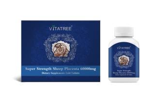 Viên uống nhau thai cừu Vitatree Super Strength Sheep Placenta 60.0 chống lão hóa da, tăng đàn hồi da, hạn chế lão hóa, giúp da sáng mịn00mg 120 viên thumbnail