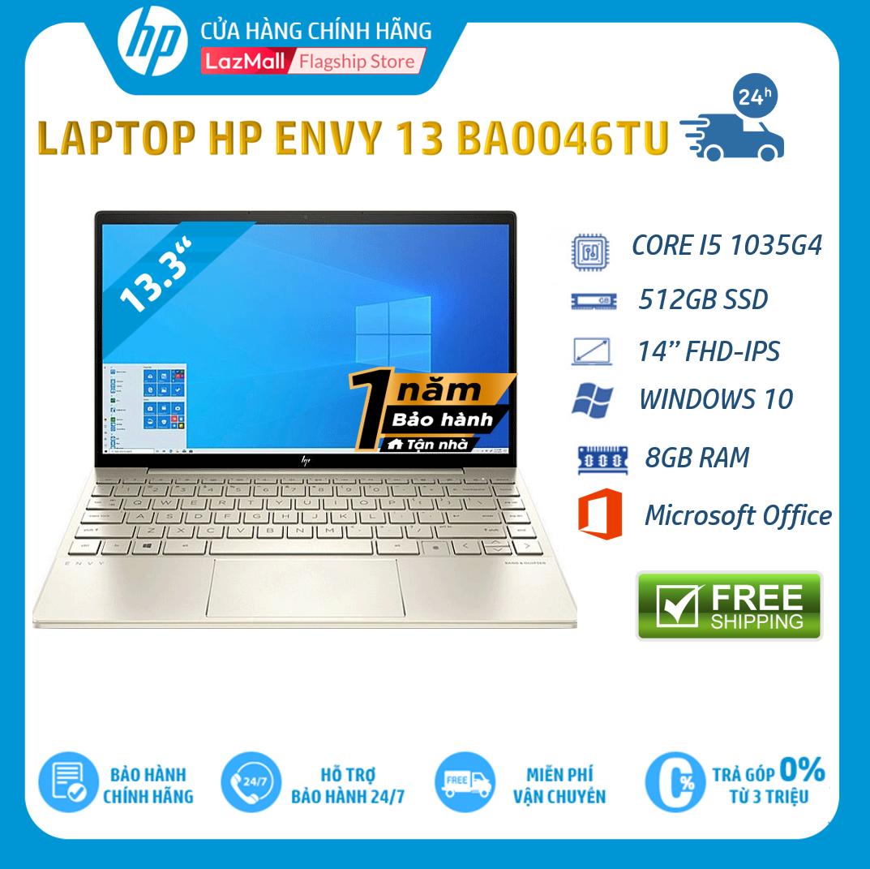 """[Trả góp 0%] Laptop HP ENVY 13-ba0046TU (Core i5-1035G4,8GB RAM,512GB SSD,13.3""""FHD, Win 10 Home 64,Office,Gold,1Y WTY-171M7PA – Hàng chính hãng"""