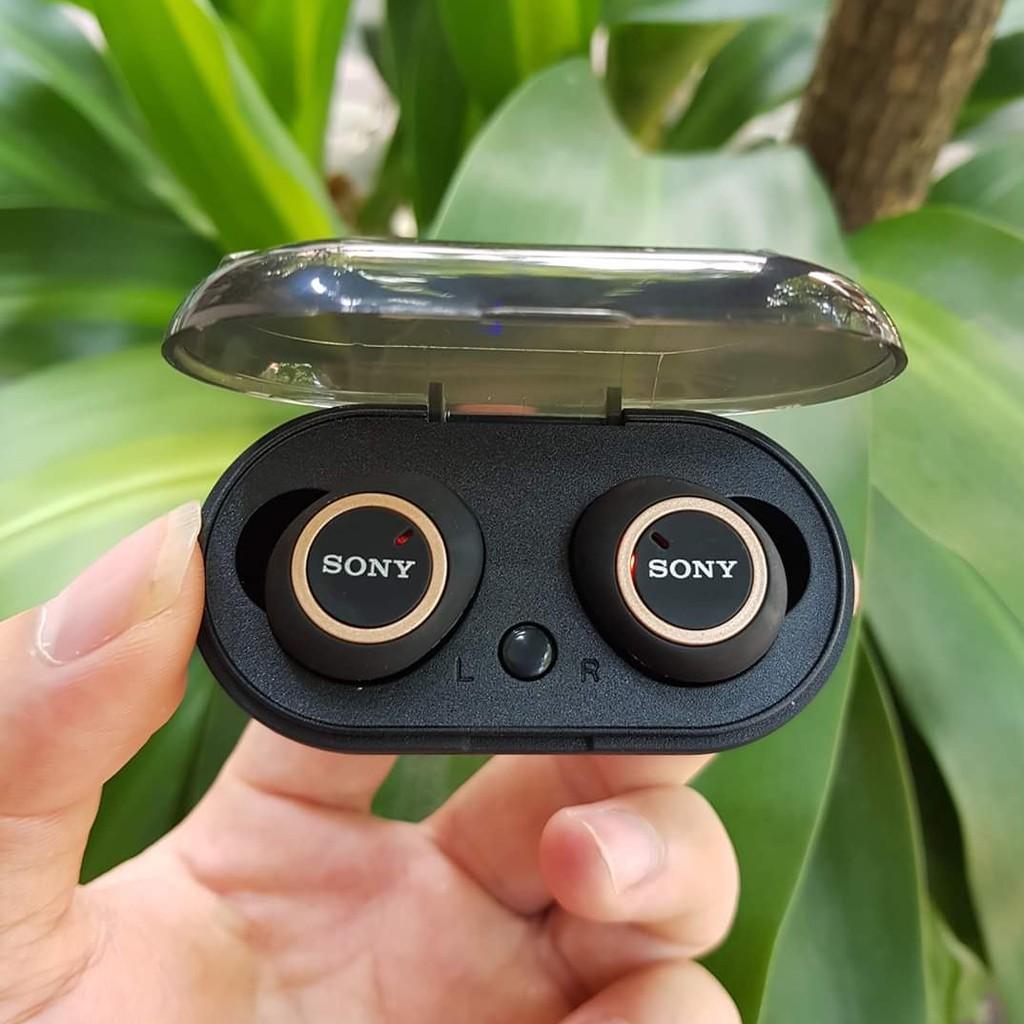 Tai nghe Bluetooth Đen Sony sport TWS-D76 Rất ấm Bass-treble rõ ràng