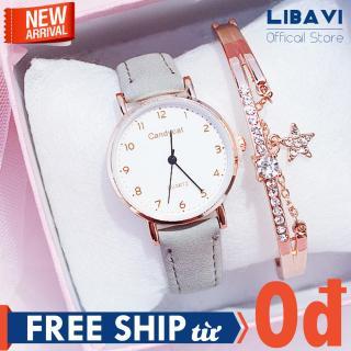 [TẶNG VÒNG TAY NGẪU NHIÊN] Đồng hồ nữ Candycat C45, đồng hồ mặt tròn, chạy 3 kim, dây đeo da cao cấp, kháng nước, chống trầy nhẹ (nhiều màu) thumbnail
