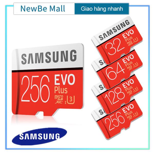 【New Be】Samsung EVO PLUS 32GB 64GB 128GB 256GB Thẻ nhớ Micro SD XC Class 10 32G 64G 128G 256G + Reader