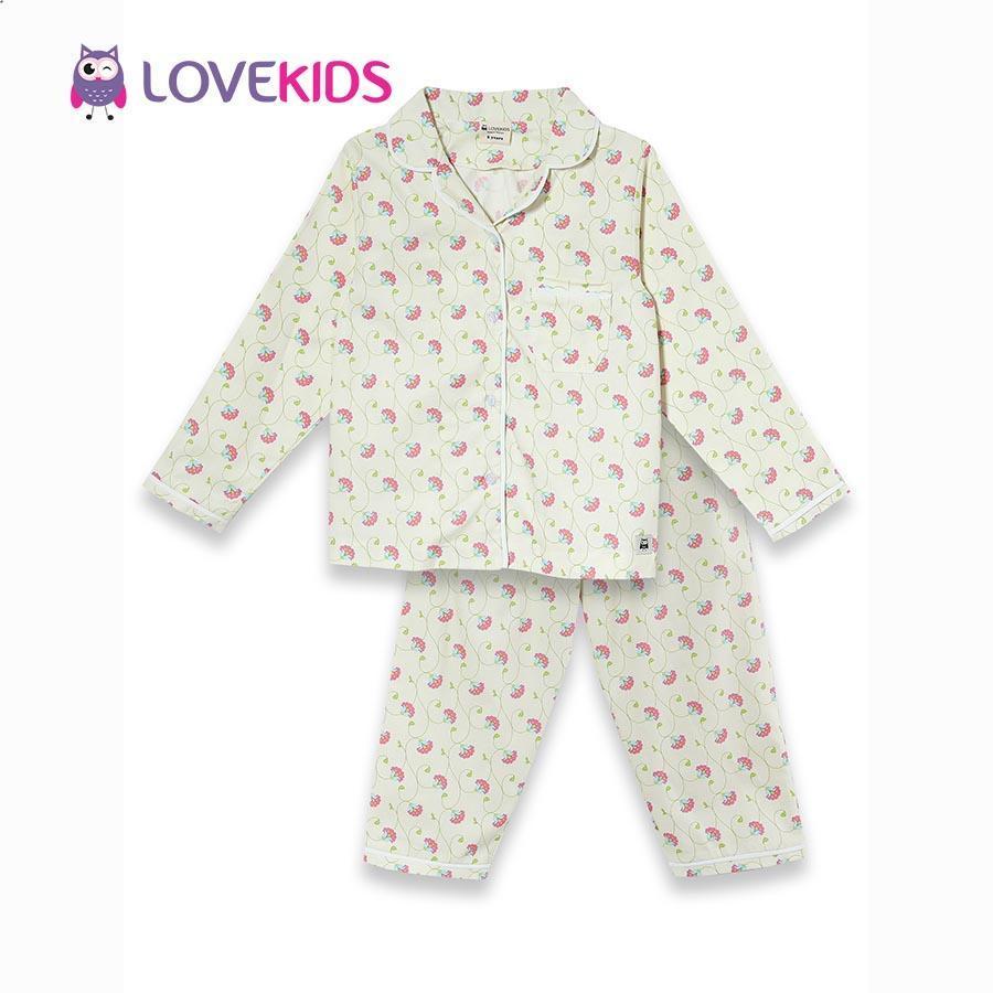 Giá bán Bộ mặc nhà bé gái - họa tiết hoa Lovekids
