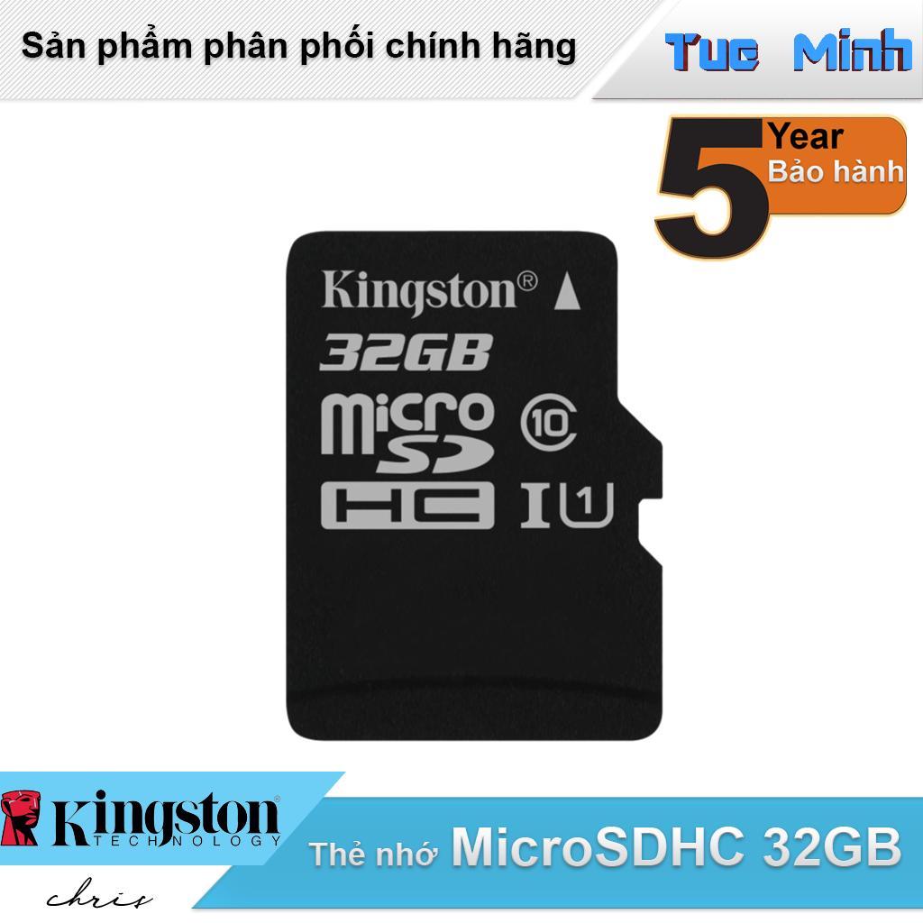 Thẻ nhớ MicroSDHC 32GB Kingston Class 10 USH-I 80MB/s - hàng FPT Synnex phân phối
