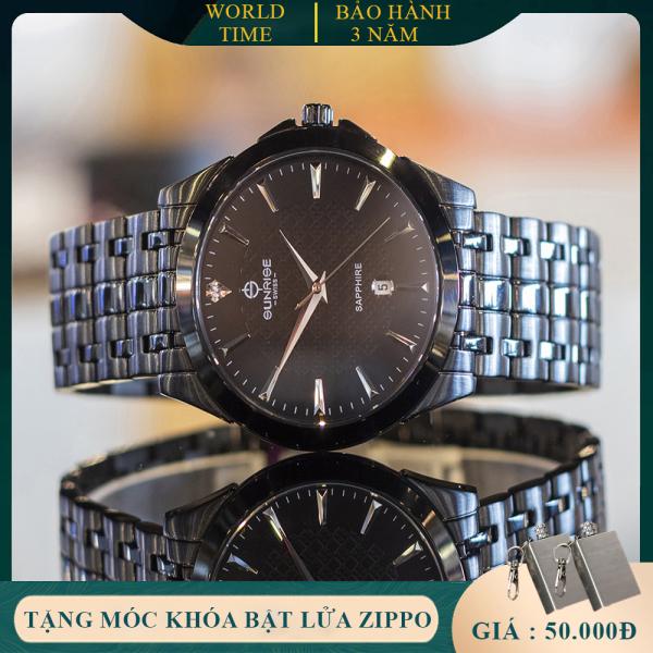 Đồng Hồ Nam Sunrise DM786SWA - Hộp hãng + Thẻ BH hãng - Kính Sapphire [chống xước , chống nước]