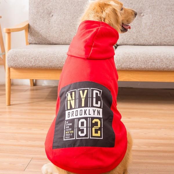 Áo cho chó lớn Hipipett size từ 20 - 50 kg áo thu đông Hoodie có 2 tay và mũ vải len lót lông cừu cao cấp
