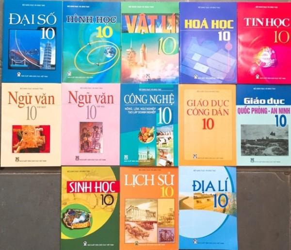 Sách - Bộ sách giáo khoa lớp 10 (13 quyển) - không tiếng anh