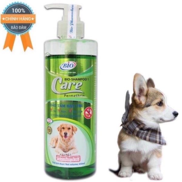 Sữa tắm bio care diệt ve rận, bọ chét, khử mùi chó mèo 450ml