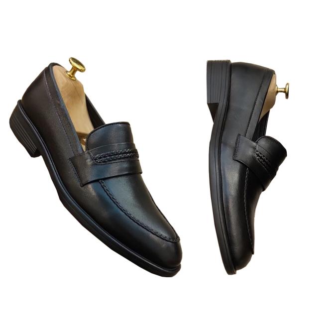 Giày Lười Nam Giày Da Bò Đế Cao Su Tặng Kèm Tất Bảo Hành 12 Tháng. giá rẻ