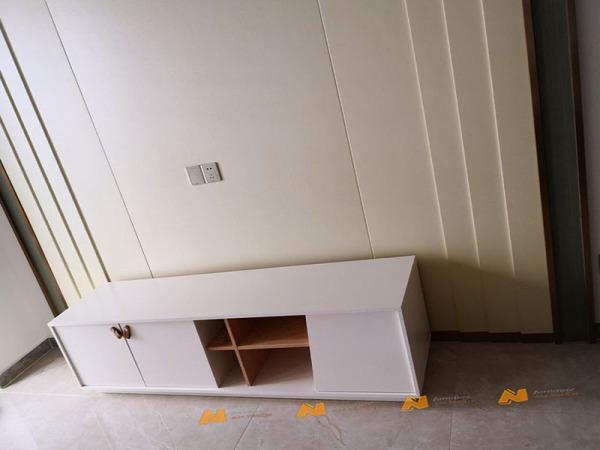 Giá bán Tủ gỗ An Nhiên hiện đại góc cạnh sắc nét phù hợp căn hộ xứng đáng đồng tiền bỏ ra Gỗ MDF loại cao cấp độ dày 17mm chất lượng gỗ vượt trội Mẫu mới hiện đại G245