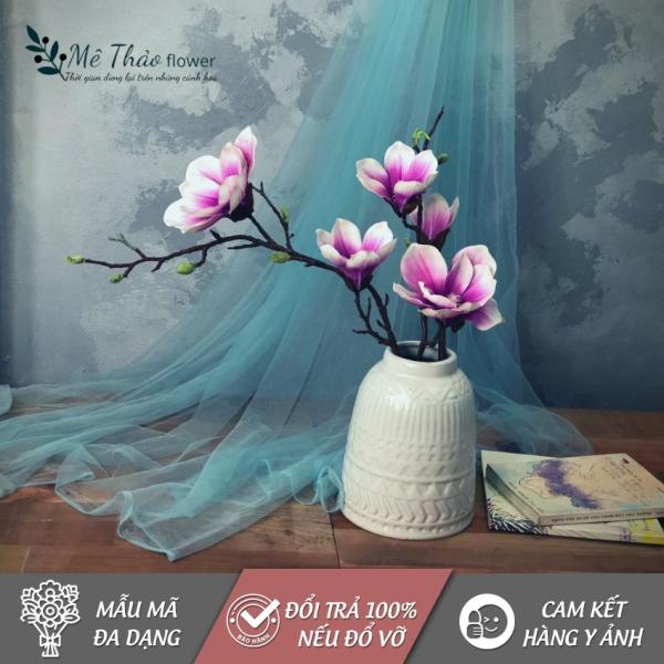 [ẢNH SHOP TỰ CHỤP] Cành Hoa Mộc Lan Giả MT40, Chất Liệu Hoa Lụa Cao Cấp, Dùng Trang Trí Nhà Cửa, Sang Trọng, Bền Đẹp, Dễ Bảo Quản, Tiết Kiệm Chi Phí Trang Trí- Mê Thảo Flower Shop