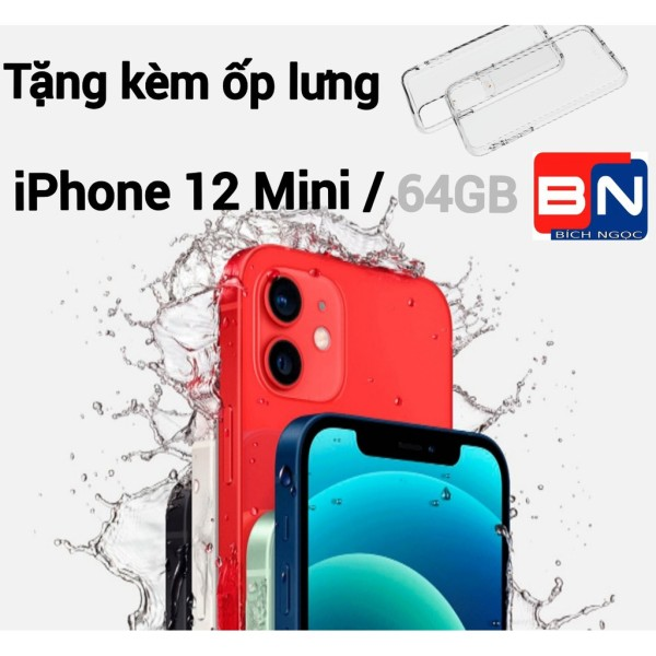 [HCM][Trả góp 0%]Combo Điện thoại Apple iPhone 12 Mini bản 64GB - hàng nhập khẩu new 100% + Ốp lưng silicon chống va đập