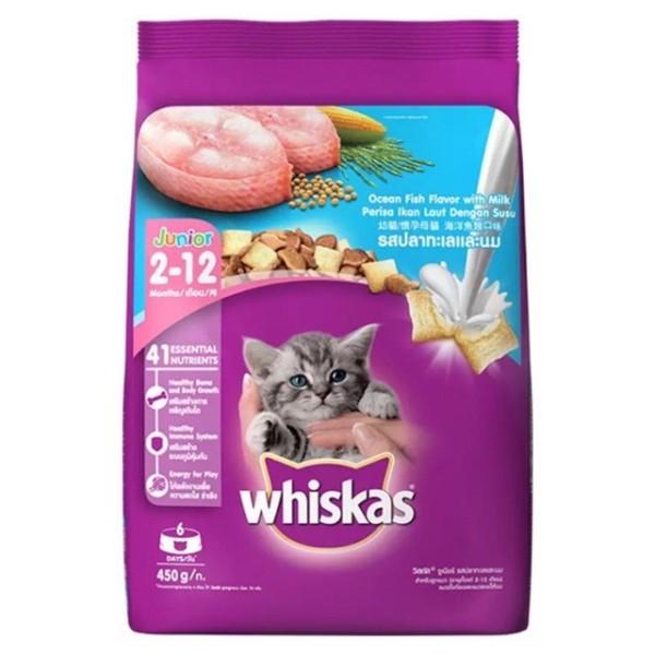 Hạt Whiskas cho mèo con vị cá biển