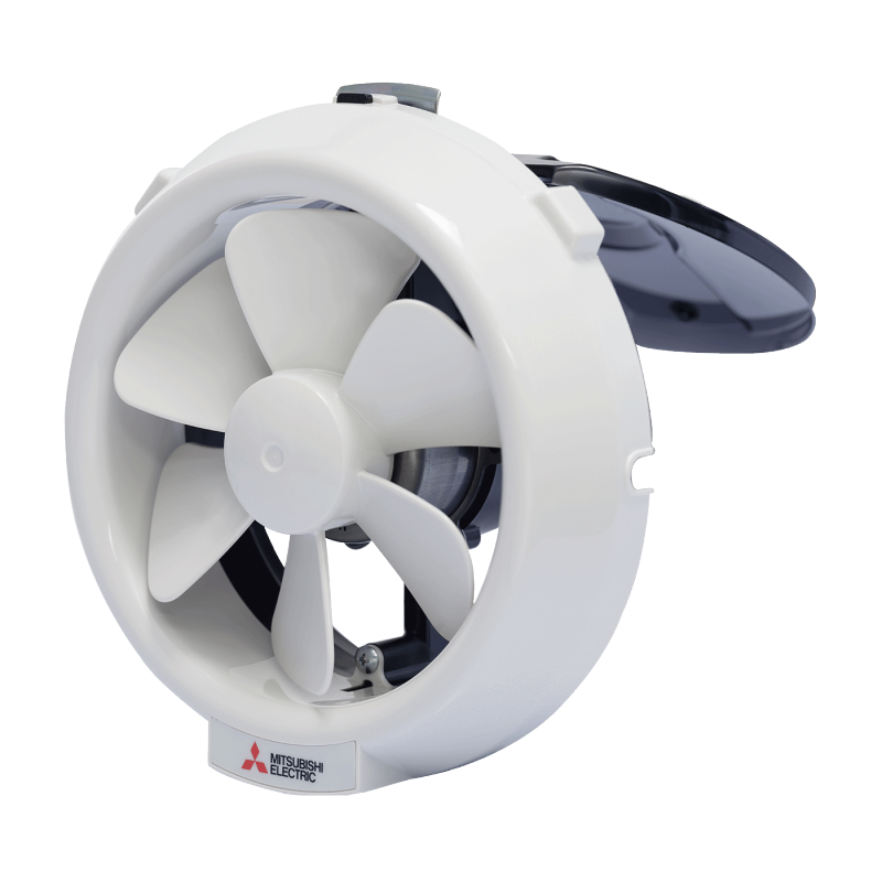 Quạt hút gắn kính - MITSUBISHI V-15SL6T (kích thước lắp đặt lỗ tròn 18cm)