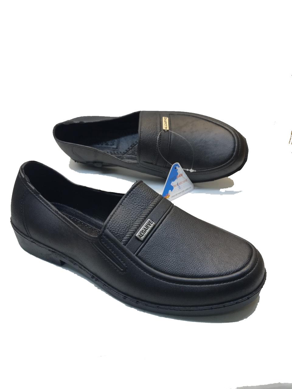 Giày lười nam đi mưa Việt San màu đen size 39-43, giày nhựa nam Việt San màu đen, giày bảo hộ lao động