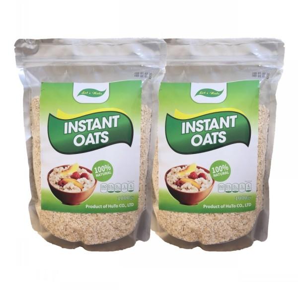 2kg yến mạch Úc instant oats túi 1kg giúp giảm cân, tăng cơ, đẹp da, bé ăn dặm