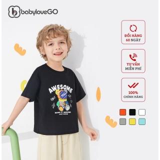 Áo thun bé trai bé gái BabyloveGo hình gấu chất liệu cotton sợi thoáng mát cho bé từ 8kg đến 38kg - AG001 thumbnail