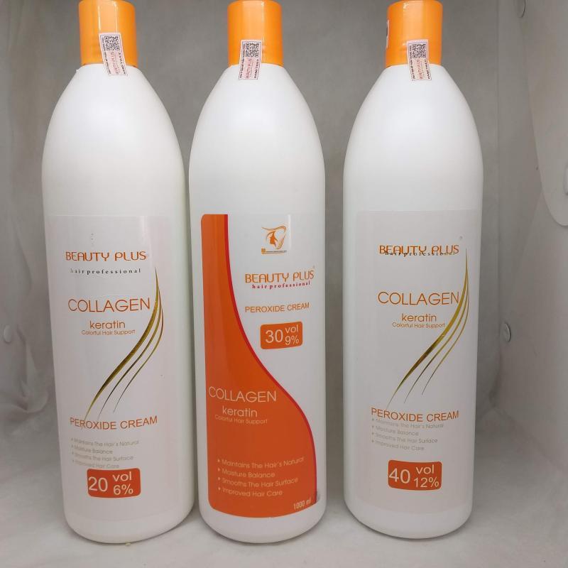 OXY trợ nhuộm màu tóc không rát da đầu 1000ml Beauty Plus - 6%, 9%, 12% cao cấp