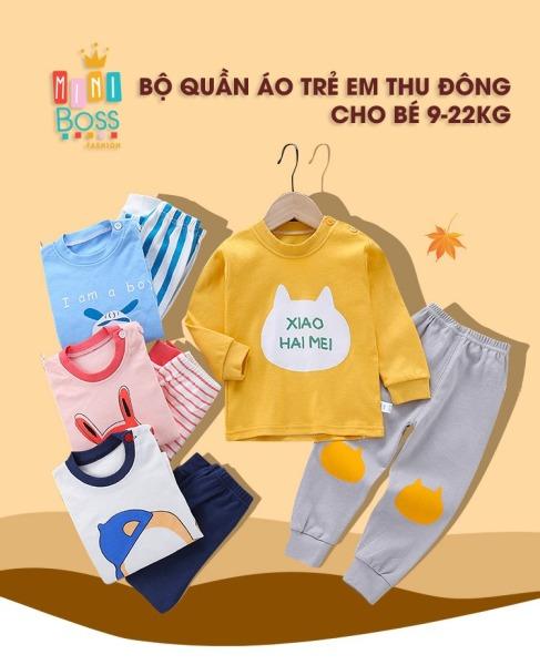 Bộ quần áo dài tay cho bé trai bé gái9-23kg QUẢNG CHÂU | Bộ quần áo thu đông cotton cho bé trai bé gái