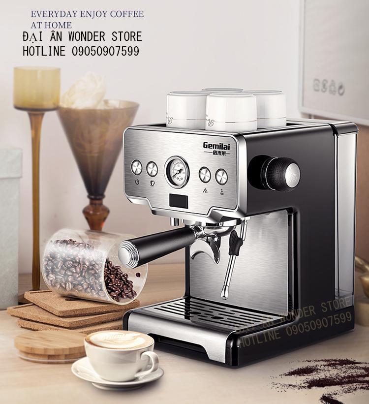 Máy pha cà phê espresso Gemilai CRM3605 tiêu chuẩn Barista