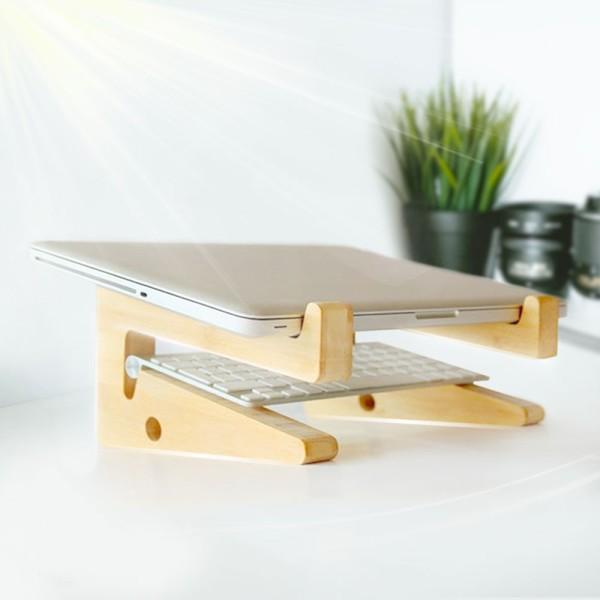 Bảng giá Kệ ,Giá Đỡ Laptop Và Macbook Thông Minh Bằng Gỗ Cao Cấp, Tản Nhiệt Tự Nhiên Phong Vũ