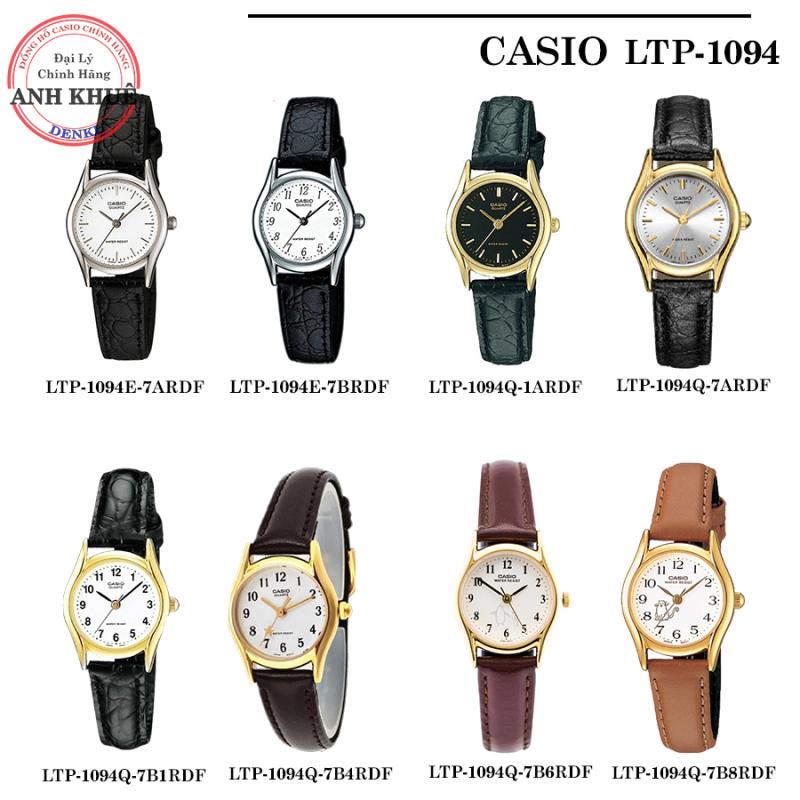 Đồng hồ nữ dây da Casio Standard Anh Khuê LTP-1094 Series LTP-1094E LTP-1094Q
