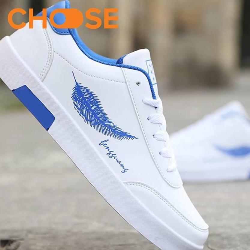 Giày Nam Đẹp /Giày Vẽ Họa Tiết Lông Vũ Ấn Tượng Năm Nay 0606 giá rẻ