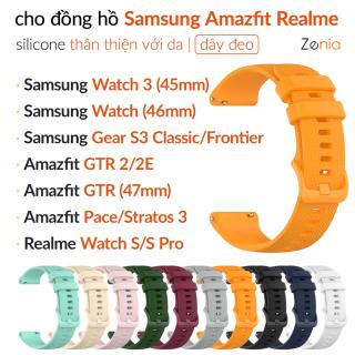 Zenia Dây Đồng Hồ Silicon Mềm Chống Nước 22Mm Dây Đeo Đồng Hồ Dành Cho Samsung Galaxy Watch 3 45mm 46mm, Gear S3 Classic Frontier, Gear 2 Neo Live R380 R381 R382 cho Amazfit GTR 47mm 2E GTR2 Stratos Stratos+ 3 Pace cho Realme S Pro Mi đồng hồ thông minh thumbnail