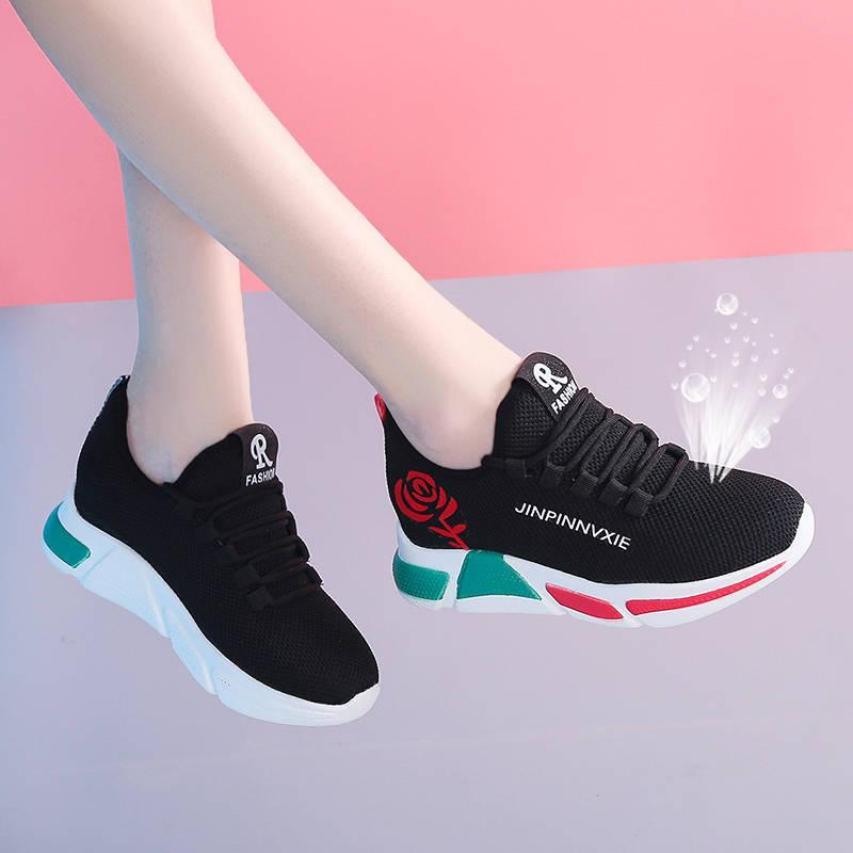Giày sneaker thể thao nữ buộc dây phong cách hàn quốc màu đen, trắng size 36 đến 40 V179 giá rẻ