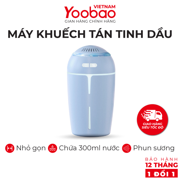 Máy phun sương khuếch tán tinh dầu YOOBAO YB-H05 Dung tích 300ml Chống khô da - Hàng phân phối chính hãng - Bảo hành 12 tháng 1 đổi 1