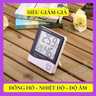 [GIẢM GIÁ]Đồng hồ đo nhiệt độ độ ẩm nhiệt kế trong nhà và ngoài trời, đồng hồ đo nhiệt độ phòng ngủ, đo nhiệt độ độ ẩm văn phòng, đồng hồ tiện ích để bàn treo tường XEM GIỜ + NHIỆT ĐỘ+ ĐỘ ẨM thumbnail