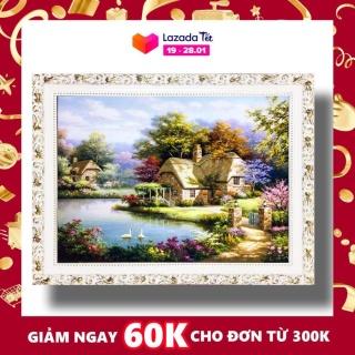 Tranh treo tường - Gia Hòa Vạn Sự Hưng 02 - Tranh Minh Hiền (KHUNG GỖ - 70 x 100cm) thumbnail