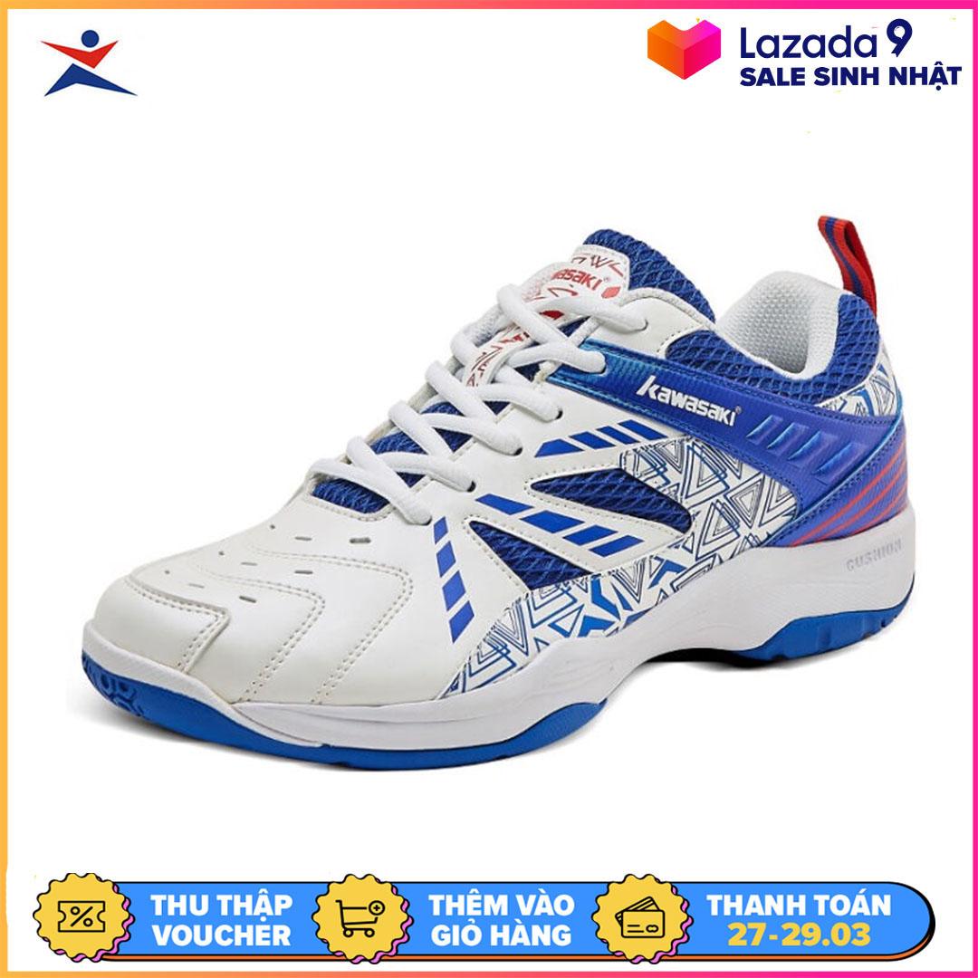 Giày cầu lông nam nữ Kawasaki K080, đế kếp chống trơn trượt chơi  được sân bê tông-giày đánh bóng chuyền-giày thể thao