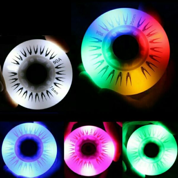 Mua Combo 4 Bánh đèn LED siêu sáng DÙNG CHO GIÀY TRƯỢT PATIN