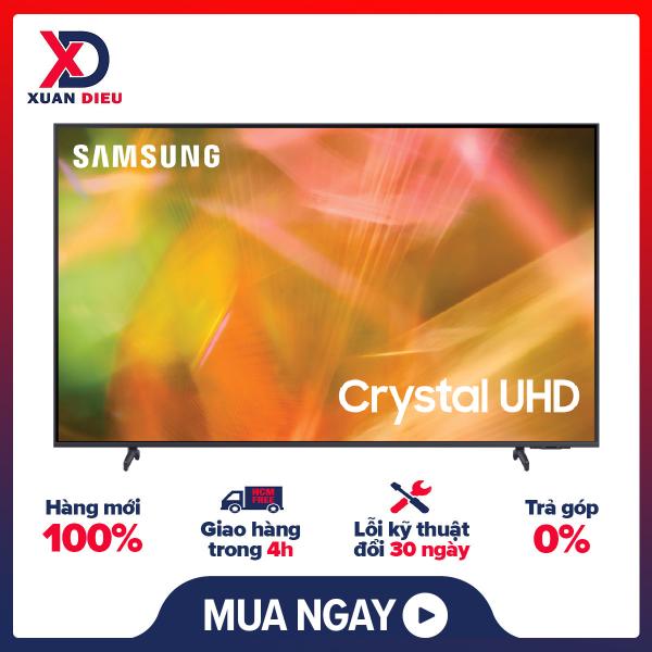 Bảng giá [Trả góp 0%]Smart Tivi Samsung 4K 65 inch UA65AU8100 Mới 2021 - 3 Cổng HDMIHệ điều hành giao diện Tizen OSRemote thông minh tìm kiếm bằng giọng nóiĐiều khiển tivi bằng điện thoại Ứng dụng SmartThings
