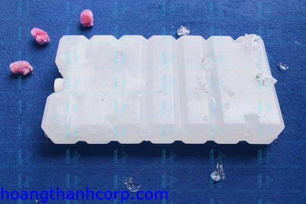 HỘP ĐÁ GEL ĐÁ KHÔ 400GR (Dùng được cho quạt hơi nước) (9x18x3cm)