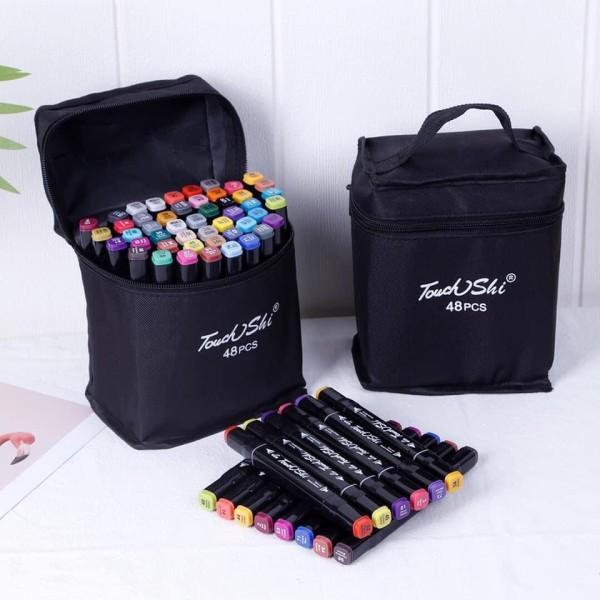 Mua Set bút màu dạ 48 cây kèm túi, màu dạ thiết kế hội họa, vẽ tranh,bút đánh dấu