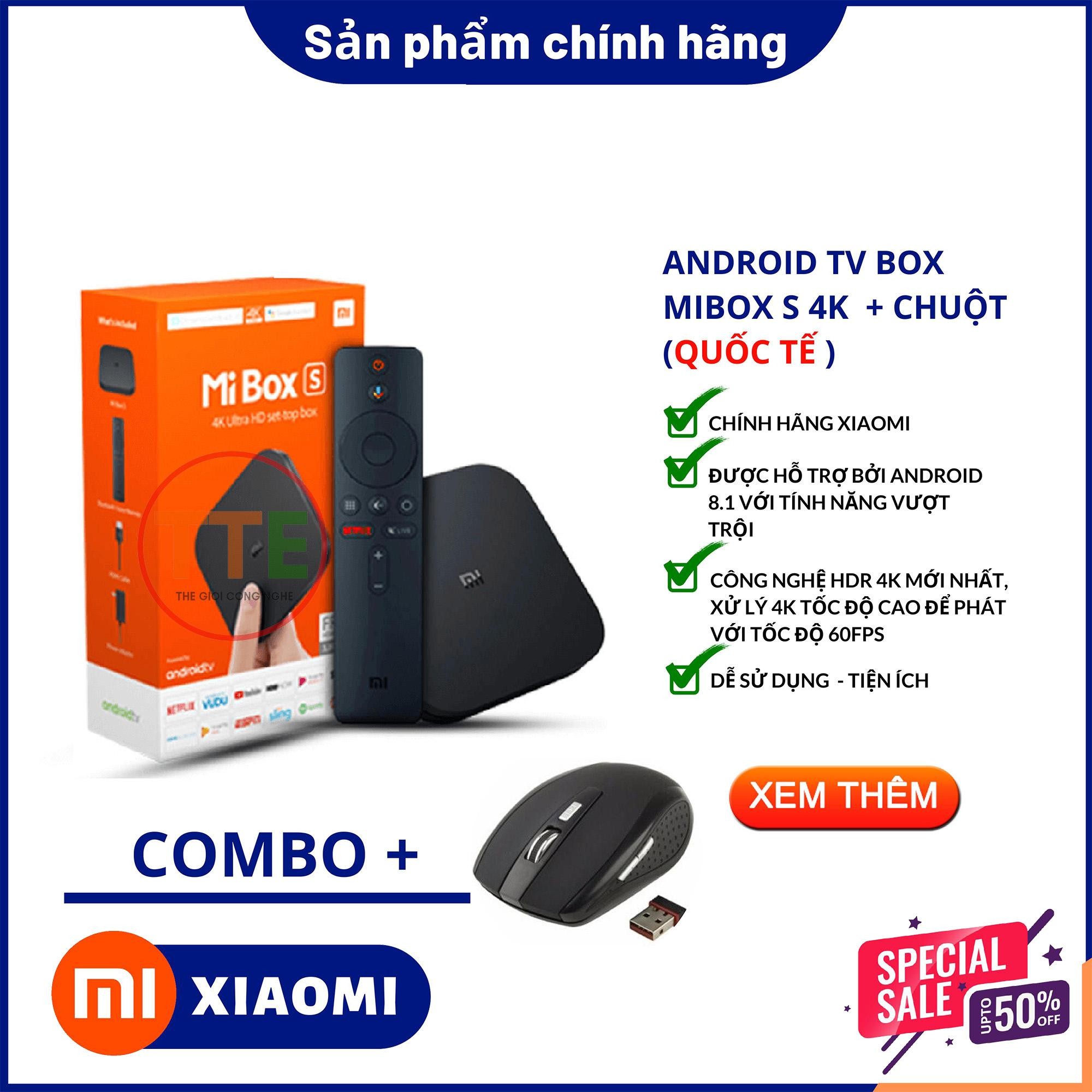 Bảng giá Tivi box Xiaomi - Android Tivi Box Xiaomi Mibox S 4K Ultra HD Quốc Tế Tiếng Việt - Phân phối