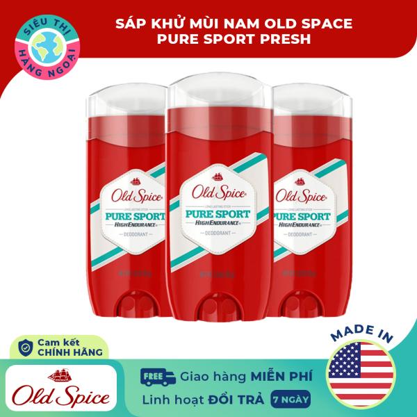 [CHÍNH HÃNG] Lăn sáp khử mùi nam Old Spice Pure Sport 85g [ngăn tiết mồ hôi vùng nách; thơm dịu nhẹ; khô thoáng thời gian dài] Hàng MỸ (được bán bởi Siêu Thị Hàng Ngoại)