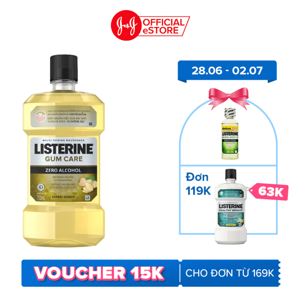 Nước súc miệng giúp nướu chắc khỏe Listerine Gum Care 750ml/chai 101097901 giá rẻ