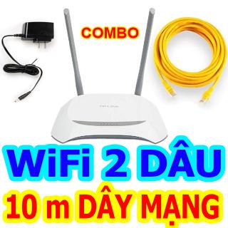 Bộ Phát Wifi TPlink, Modem Wifi TPLink 842N 2 râu chuẩn tốc độ 300 Mbps phát sóng khỏe, Cục phát wifi, Bộ kích sóng wifi - BH 6 Tháng thumbnail