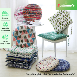 Đệm ngồi bệt vuông vải lanh cao cấp, nệm ngồi ghế vải lanh thoáng khí mềm mại 40x40cm thumbnail