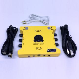 Sound card XOX K10 phiên bản 10th jubilee - Soundcard nâng cấp mới nhất đến từ XOX - Đầy đủ các chức năng, chế độ, hiệu ứng - Kết hợp được hầu hết các loại micro thu âm, sử dụng được cho cả điện thoại và máy tính thumbnail