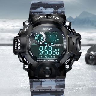Đồng hồ nam điện tử SPORT KB65C dây NHỰA rằn ri quân sự silicon -đồng hồ chức năng xem giờ điện tử , báo thức, bấm giờ thể thao dây nhựa silicon cao cấp thumbnail
