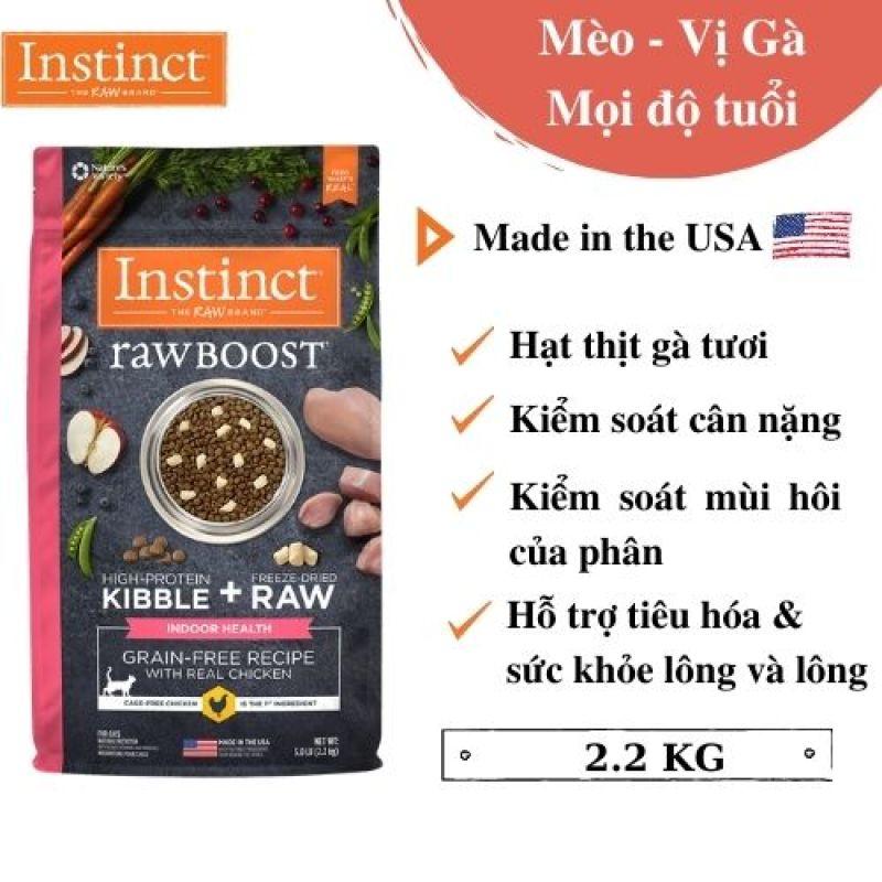 Thức ăn cho mèo trong nhà làm từ thịt gà tươi Instinct Raw Boost for Indoor Health (Túi 2,27kg)